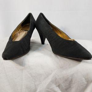 Nina Black Fabric Pumps Size 10M